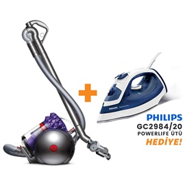 Dyson Cinetic Big Ball Parquet 2 700W Elektrikli Süpürge + Philips GC2984/20 PowerLife Plus Ütü Hediye!