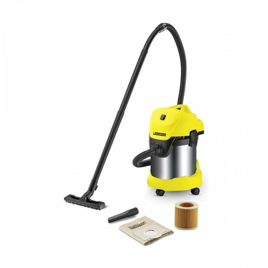 Karcher WD3 Premium +Suction Brush Kit *EU-I Islak Kuru Vakum Makinesi